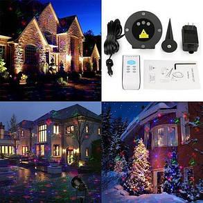 Лазерный проектор STAR SHOWER три цвета 12в1, фото 2