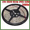 Светодиодная лента 24В 3528 (60LED/м) IP65