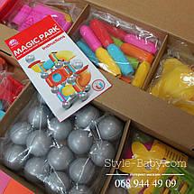 8111 Магнитный конструктор для детей 46 деталей в коробке 56,5х35,5х8 см, фото 2