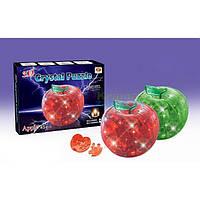 "29016А 3D кристалл пазл ""Яблоко с подсветкой"""