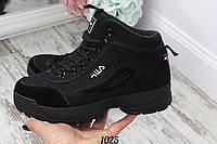 Ботинки зимние FILA черные. Аналог, фото 1