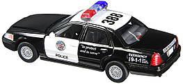 5327W Модель легковая KINSMART FORD CROWN VICTORIA POLICE метал.инерц.откр.дв.1:42 кор./96/