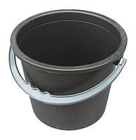 Ведро полиэтиленовое 8 литров черное (Юнипласт, Харьков), фото 1