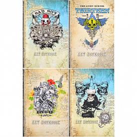 АКЦИЯ Блокнот В5 «Мандарин» ЧЕРЕП 7 БЦ 80 л, 1573–1576 твердый переплет    120339/БК95