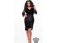 Женское нарядное вечернее платье из бархата 26302 / размер 48-50, 52-54, 56-58