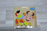 Деревянная игрушка Рамка Пазлы MD 0689   8 видов, в кульке, 14,5-14,5 см, фото 2