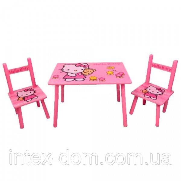 Набор детской мебели Столик + 2 стульчика «Китти» м 0293 КИЕВ