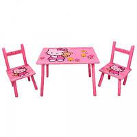 Набор детской мебели Столик + 2 стульчика «Китти» м 0293 КИЕВ, фото 1