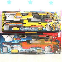 74 Автомат Спайдер Мен Человек Пайк 61,5см: аккум,водяные пули,свет,очки,USBзарядное,в кор-ке,67-24-6см
