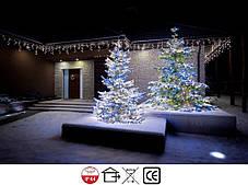 Новогодняя гирлянда Бахрома 300 LED, Белый холодный свет 14 м, фото 3