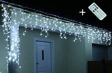 Новогодняя гирлянда Бахрома 300 LED, Белый холодный свет 12 м + Пульт , фото 3