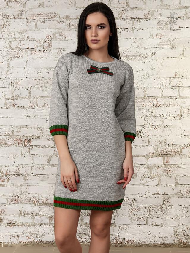 Фото Вязаных платьев туник Лола-3