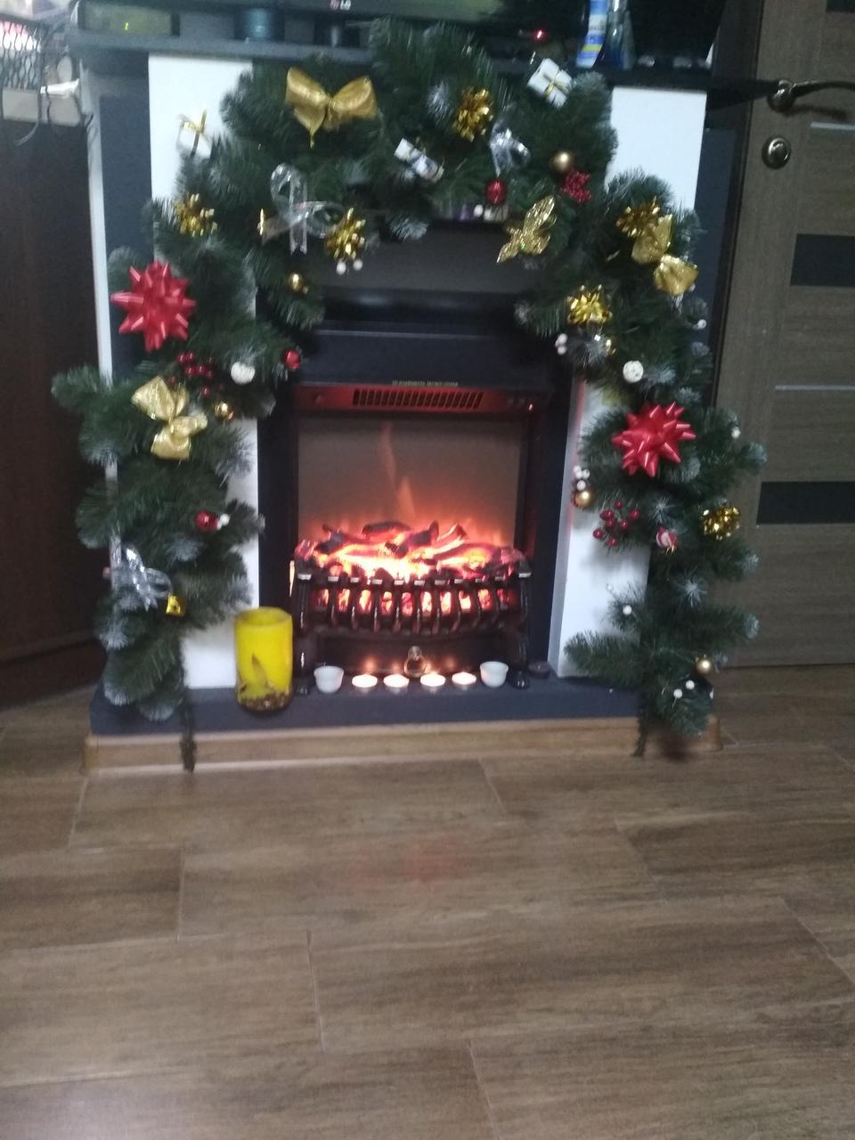 Гирлянда из еловых веток новогодний декор 3 метра , гирлянда новогодняя