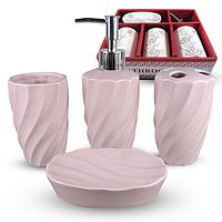 Набор аксессуаров для ванной комнаты 4 пр. Классика SNT 888-139