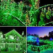 Новогодняя гирлянда 100 LED,Зеленый , Длина 8 Метров, фото 3