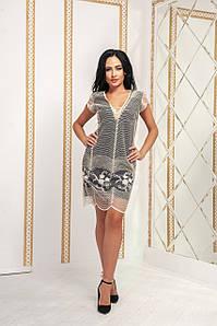 Женское коктейльное платье №158-586/1  БАТАЛ