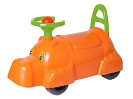 3664 Детский автомобиль толокар для прогулок бегемот Технок