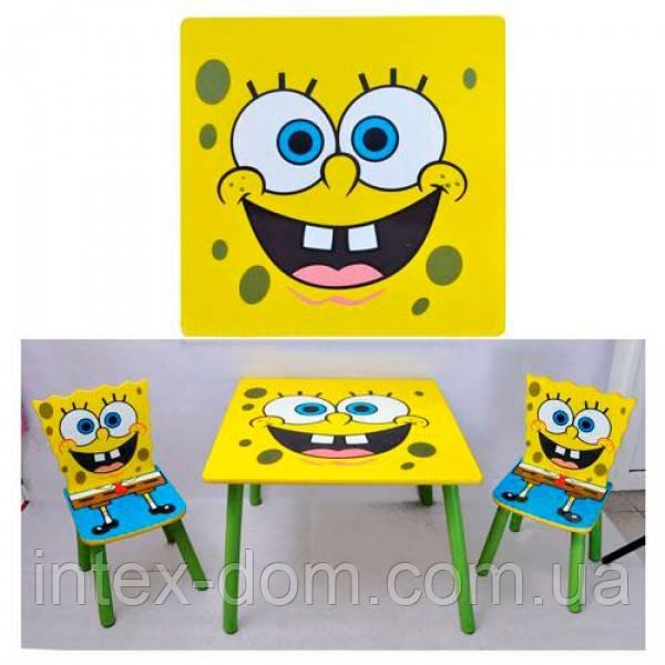 Набор детской мебели Столик + 2 стульчика «Sponge Bob» D 06449 КИЕВ