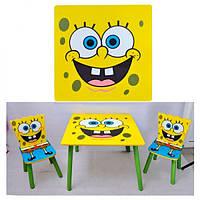 Набор детской мебели Столик + 2 стульчика «Sponge Bob» D 06449 КИЕВ, фото 1