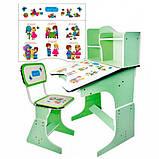 Детская парта со стульчиком трансформер Bambi HB 2071-03 (стол-парта-растишка, 5 положений) КИЕВ, фото 5