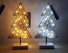 """Новогоднее украшение """"Деревянная елочка"""" 18 LED, фото 3"""