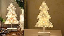 """Новогоднее украшение """"Деревянная елочка"""" 18 LED, фото 2"""