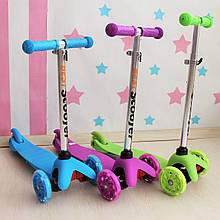 466-112 Самокат трехколесный детский Best Scooter светятся колеса