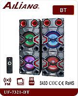 Музыкальный центр, активные колонки AILiANG UF-7321-DT, отличное звучание и качество