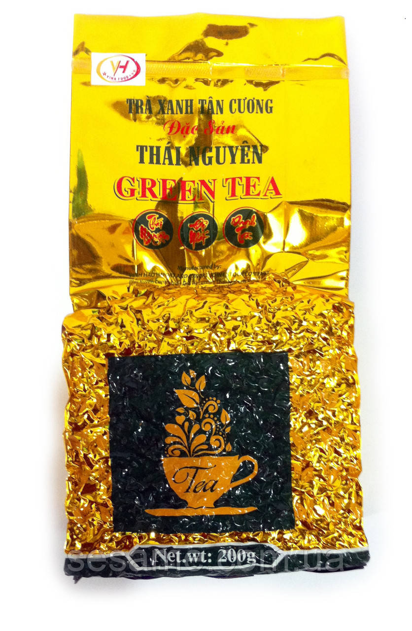 Вьетнамский Зеленый чай Премиум Dac Sun  Thai Nguyen Green Tea (Вакуум)  200г