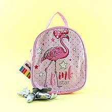 12821 Сумочка детская для девочки Фламінго 1 отдел на молнии длинная и короткая ручки бывает трех цветов