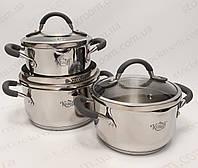 Набор кухонной посуды Krauff 26-202-012 с силиконовыми накладками, фото 1
