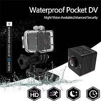 Мини скрытая Камера DC-SQ12 Mini Sport DV с ночной подсветкой, разрешение 1080P