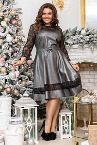 Женское платье миди №84-075 БАТАЛ