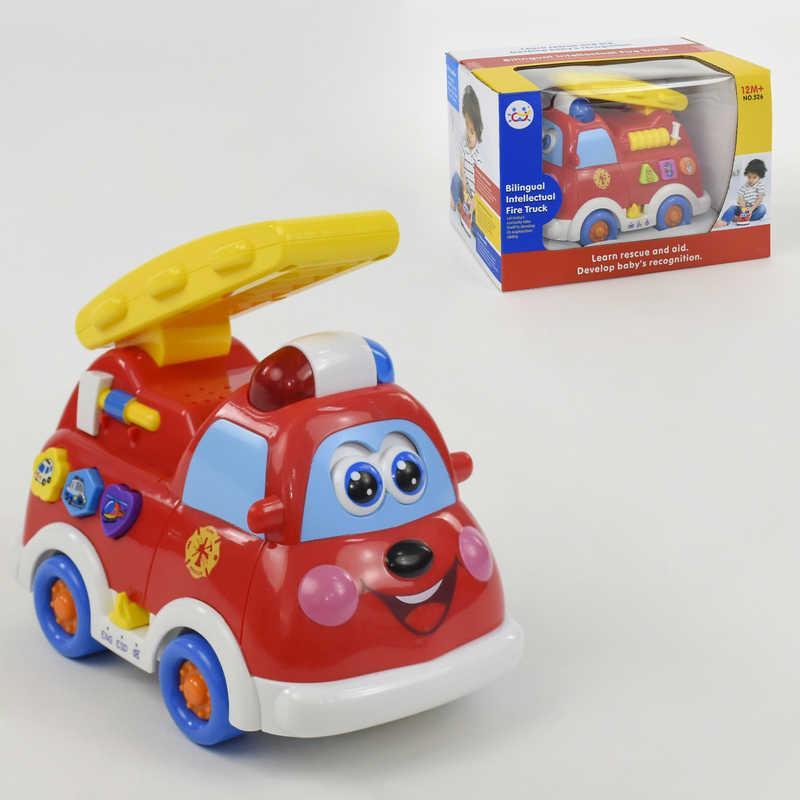 526 Пожарная машинка на батарейке для детей: свет, звук, в коробке
