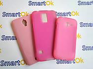 Lenovo IdeaPhone A680 розовый чехол накладка силиконовая