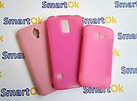 New Line X-series Case + Protect Screen Fly IQ449 Pink чехол накладка силиконовая