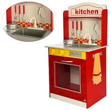 KMMD1207 Деревянная игрушка Кухня MD 1207  плита, посуда, 47-45-9см