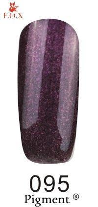 Гель-лак F.O.X Pigment 095 (темно-сиреневый с микроблескомь),6 ml
