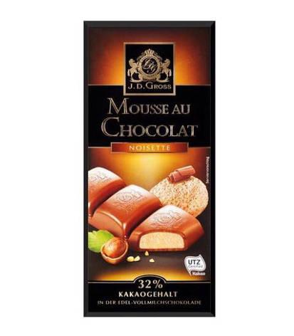 Шоколад J.D.Gross Mousse au Chocolat с фундуком 182,5г, фото 2