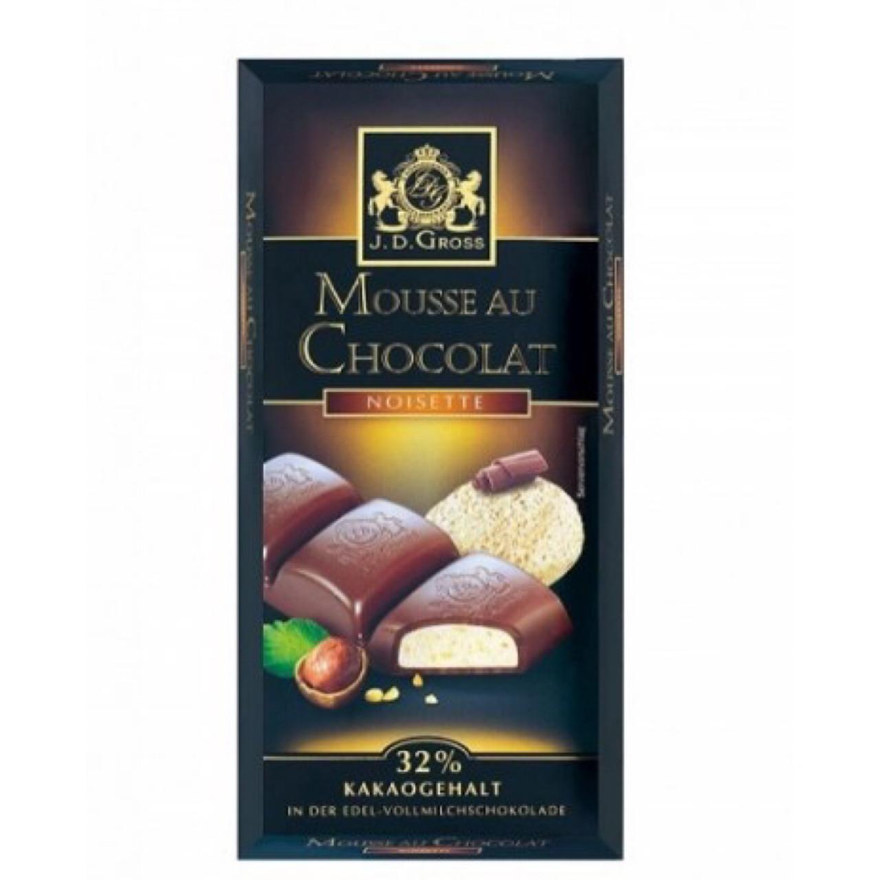 Шоколад J.D.Gross Mousse au Chocolat с фундуком 182,5г