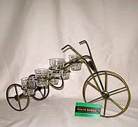 Мини-бар №10 с рюмками кованый Велосипед, фото 1