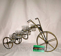 Мини-бар №10 с рюмками кованый Велосипед
