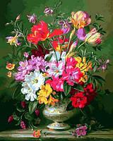 Картины по номерам 40×50 см. Весенняя цветочная композиция Художник Альберт Уильямс