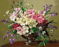 Картины по номерам 40×50 см. Натюрморт с весенними и летними цветами Художник Альберт Уильямс