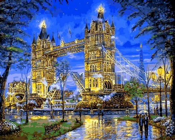 Рисование по номерам 40×50 см. Тауэрский мост Лондон Художник Роберт Файнэл