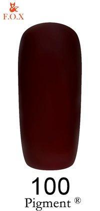 Гель-лак F.O.X Pigment 100 (глубокий красно-коричневый, эмаль),6 ml