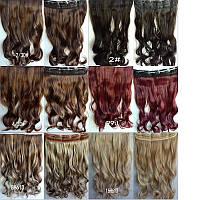 Волосы на заколках накладные трессы волнистые