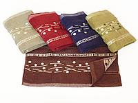 """Махровое лицевое полотенце 95х50см (""""бамбук, линии"""")"""