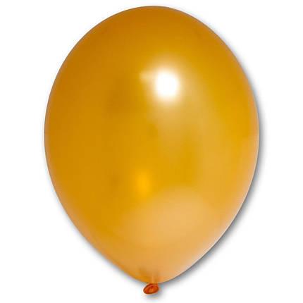 "Шар 12"" BELBAL-ББ металлик 081 оранжевый, фото 2"
