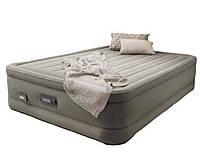 Двуспальная надувная кровать Intex + встроенный электронасос 220V, USB зарядка, LED подсветка  152x203x46 см